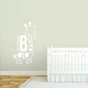 Giraffe Jungle Nursery Named Door Sign Childrens Wall Stickers Baby Kids Decals