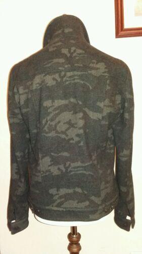 Allsaints Large Warren Giacca Rrp Camouflage 228 Wool taglia £ AdwdR4Tq