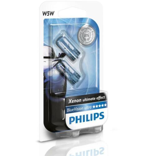 Philips W5W BlueVision Signal und Innenbeleuchtung 12961BVB2 Standlicht Parklich