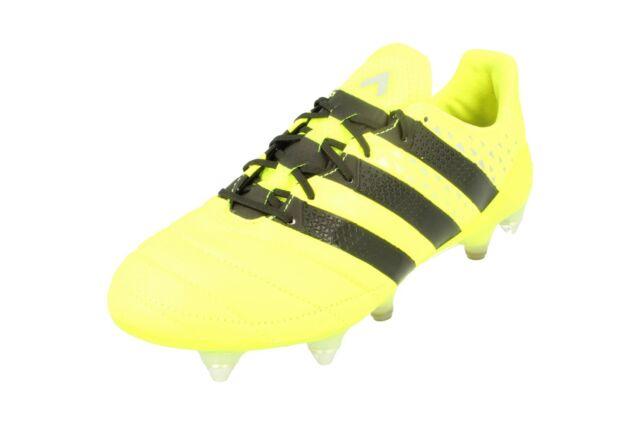 Adidas Ace 16.1 Sg AQ4451 pelle Scarpe Calcio Uomo Tacchetti da Calcio