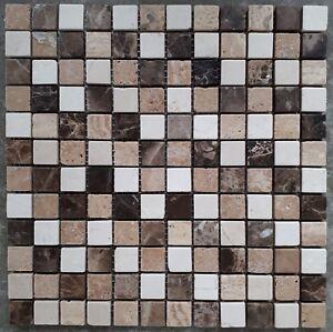 Das Bild Wird Geladen Naturstein Fliesen Travertin Mosaik 30 X 30 Cm