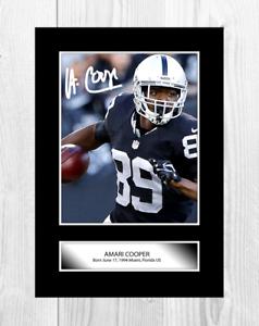 Amari-COOPER-1-NFL-Dallas-Cowboys-Reproduction-Signe-poster-Choix-de-cadre