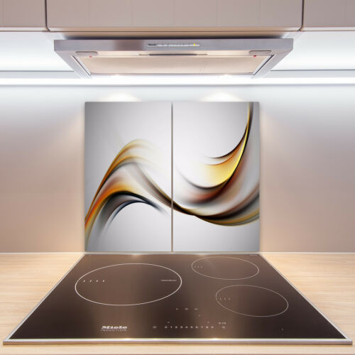 2x30x52 cm Herdabdeckplatten aus Glas Spritzschutz Abstrakte Welle