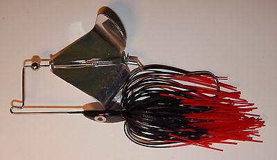 Custom Made Head Thumper Topwater Buzzbait 1//2 Oz -Bass Fishing Black w//Red Tip