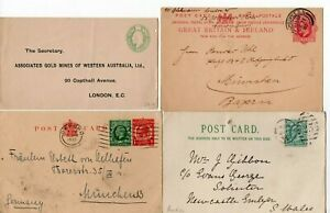 12-Edward-George-V-George-VI-Early-QE2-Postal-History-Covers-Cards-As-Scanned