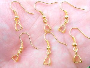 Wholesale 500PCS DIY Jewelry Findings 18K Gold plate Hook Earrings Ear Wires