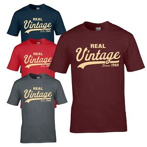 6e84bb299 Vintage Since 1969 T-Shirt - Funny Novelty 50th Birthday Present ...