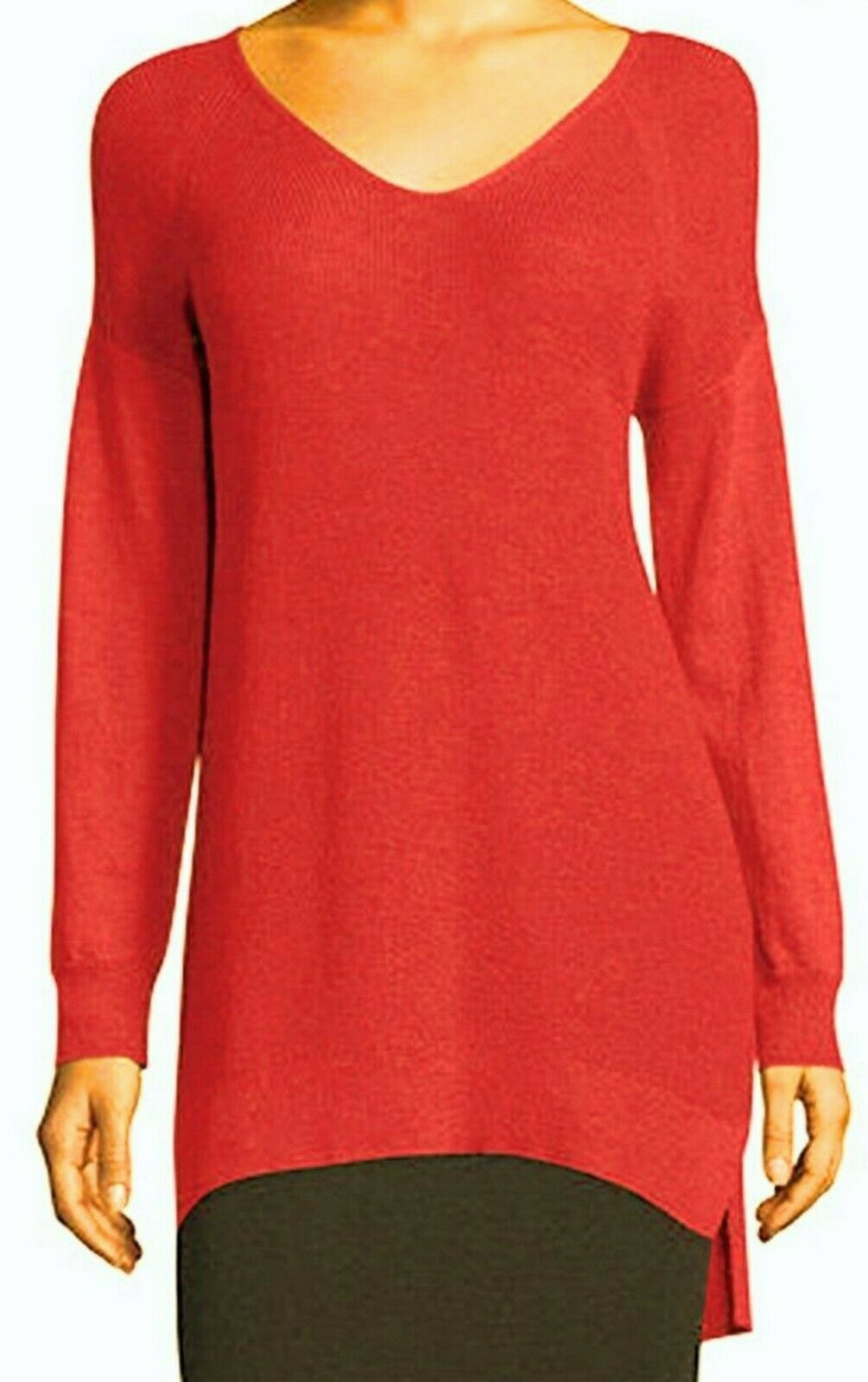 Eileen Fisher Zinia V-Neck Wolle Tunic Sweater Größe Medium Orig  278