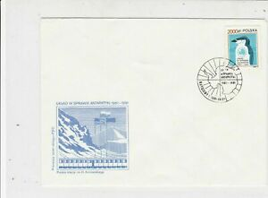 Poland 1991 Arctic Antarctic Polar Expedition Ice Station Stamps Cover Ref 23186
