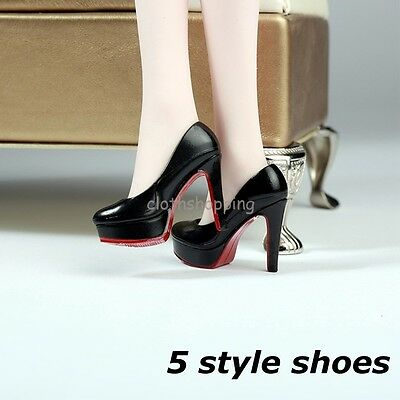 2 Pair 1//6 Female High Heel Shoes for 12inch Action Figure Hot Toys