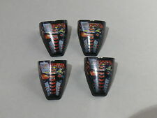 Lego 4 visieres set 8500/ 4 Technic Throwbot Visor with Torch / Fire Pattern