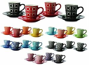 Maxwell-amp-Williams-Graphique-Set-of-4-Demi-Espresso-Coffee-Cups-amp-Saucers
