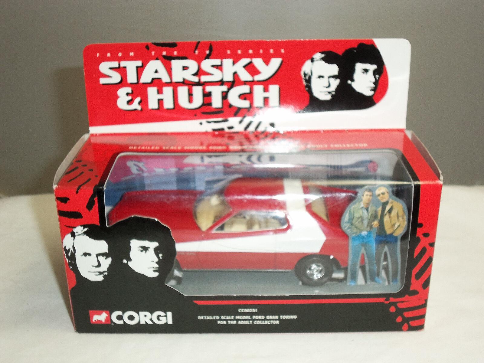 Cc00201 starsky und hutch corgi - tv - serie roten ford gran torino ein diecast modell - auto