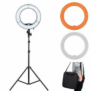 es180 led 13 180pcs 36w 5500k dimmable ring light diffuser light stand ebay. Black Bedroom Furniture Sets. Home Design Ideas