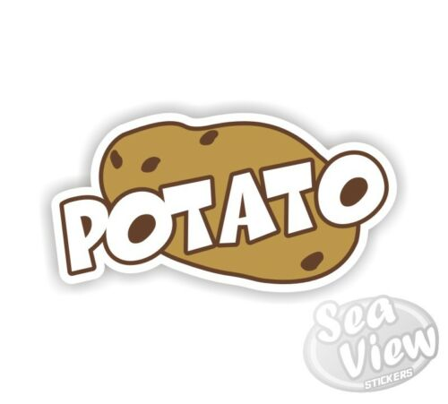 Potato Funny Humorous Celebrity Juice Car Van Stickers Decal Bumper Sticker