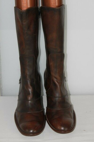 Mid Boots STÉPHANE GONTARD Original Brown Leather Marbled T41
