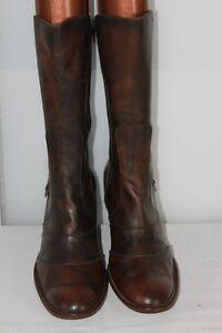 bottes cuir marron originales