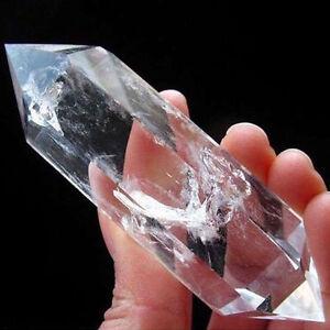 100-NATURAL-Rock-CLEAR-QUARTZ-CRYSTAL-1PCS-AAA-DT-WAND-POINT-Healing-U-gift-Hot