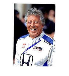 Mario Andretti signed auto autograph 4x6 photo Racing ID5