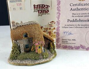 Lilliput-Lane-puddlebrook-firmada-por-el-escultor-Collector-039-s-Club-1991-1992