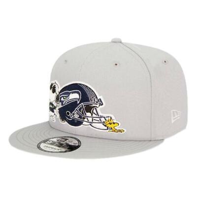 New Era NEW Men/'s Seattle Seahawks X Peanuts 9 Fifty Snapback Cap Grey BNWT