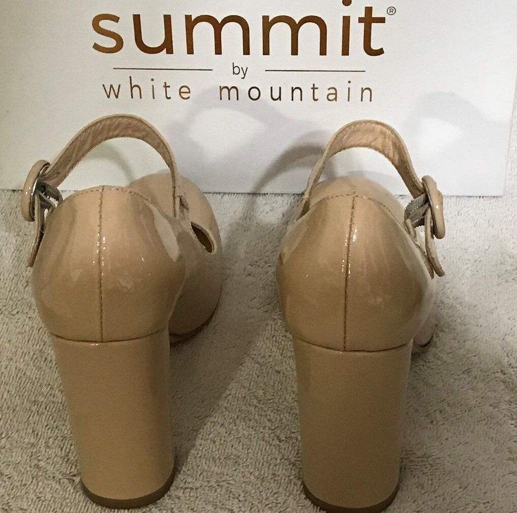 Summit by White Mountain shoes Heels Size 40 Nude Nude Nude Patent Leather VGC in Box 4  34c1df