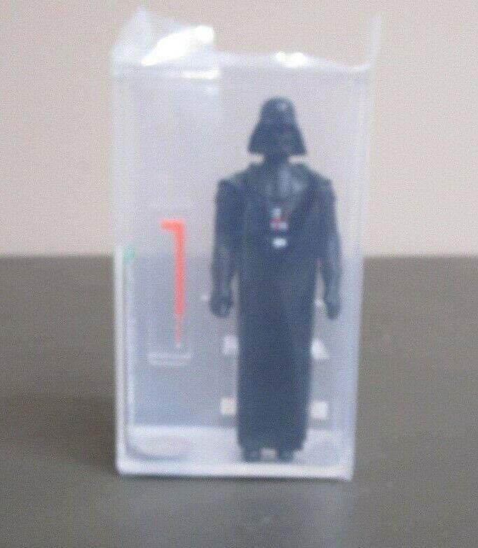 Darth Vader 1977 figura de acción de la guerra de las galaxias calificado autoridad 80+ casi nuevo Hong Kong Coo JJ nuevo caso