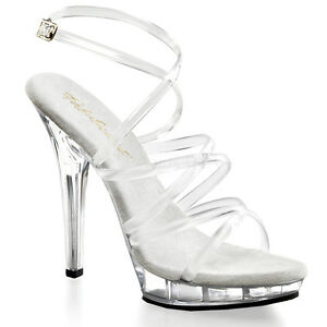 PLEASER-FABULICIOUS-LIP-106-CLEAR-STRAPPY-COMPETITION-STILETTO-SANDALS-SHOES