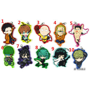 T1339-Anime-One-Punch-Man-Rubber-Keychain-Key-Ring-Rare-Straps-Cosplay