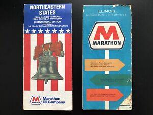 Details about Vintage Road Maps - Marathon Oil 1975 Northeastern States on rainbow road map, chicago area road map, northern indiana road map,