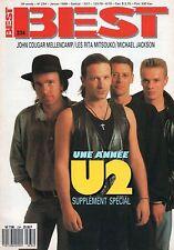 U2 - MICHAEL JACKSON - J.C. MELLENCAMP - BEST #234 + POSTER BONO - Janvier 1988