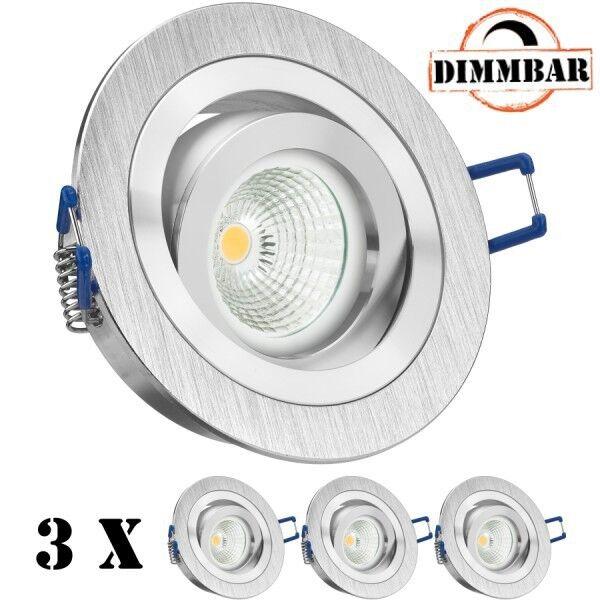 3er LED Einbaustrahler Set EXTRA FLACH (35mm) in BiFarbe (chrom   gebürstet) mit | Günstigen Preis  | Deutschland Shops  | Sale Online