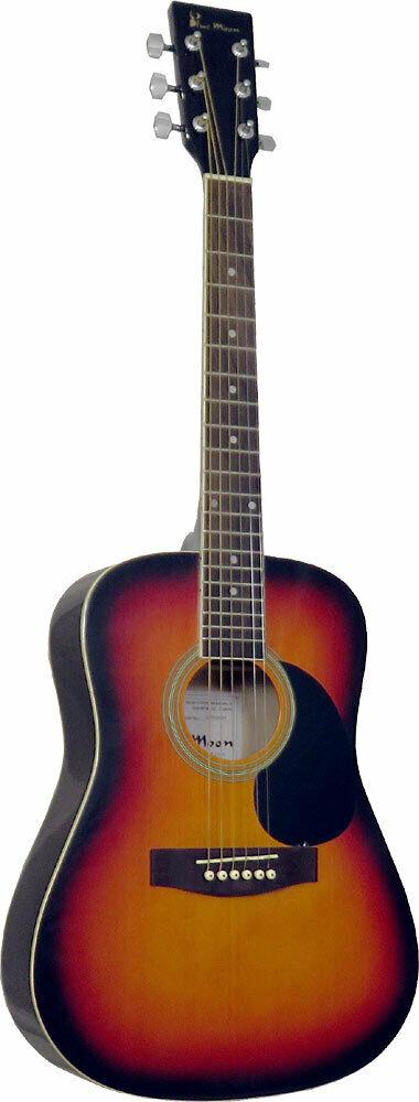 Blau Moon 3 4 Größe Acoustique Guitare. Sunburst Finition, Épinette Haut ,