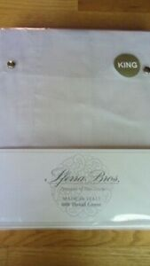 SFERRA Sheet Set King 600TC 100% Extra Long Staple Cotton Silky Sateen White