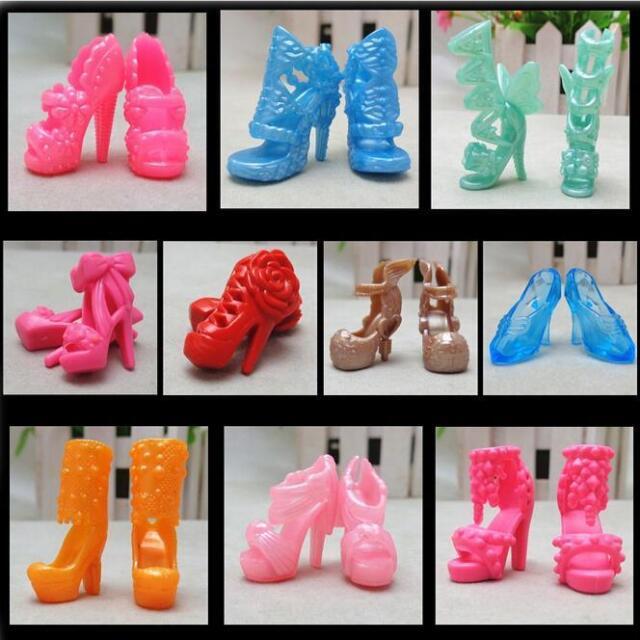 "20X/10 Pairs Fashion Shoes for 11"" s Dolls Fixed Styles Color Random GTAU"