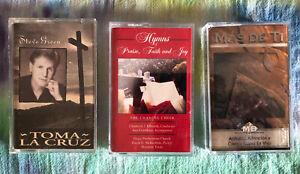 3-Gospel-Cassette-Tapes-The-Chancel-Choir-Hymns-STEVE-GREEN-MARCO-BARRIENTOS