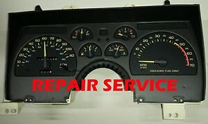 1990 1991 1992 CHEVY CAMARO Instrument Cluster DIAGNOSTIC SERVICE