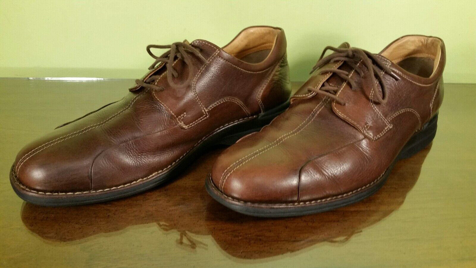 Johnston Leather Murphy Brown Split Toe Leather Johnston Oxford Dress Shoes Mens 12M Brazil af0bc3