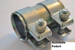 Rohrverbinder-Doppeschelle-90x46-Ford-Audi-Opel-Seat-Skoda-VW-Renault-usw