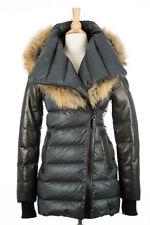 100% AUTHENTIC Rudsak Roya Gray Down Fur Puffer Coat Women Size XS
