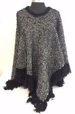 Women Batwing Top Poncho Knit Cape Cardigan Coat Knitwear Sweater Outwear Jacket