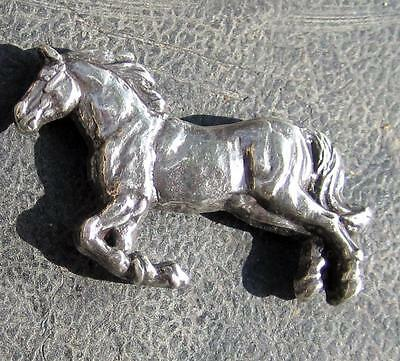 """Running Horse concho dipped in pure silver, screw backs.  1 1/2"""" wide"""