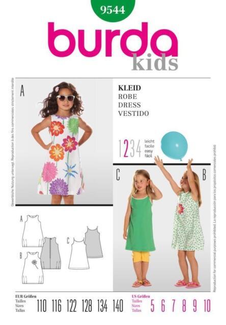 Burda Schnittmuster 9544 Kleid Gr. 110 - 140 | eBay