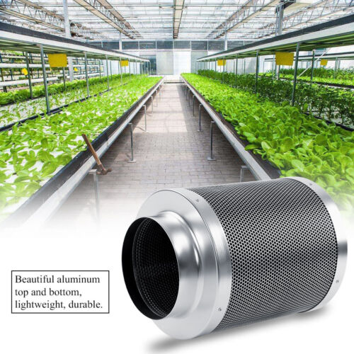 """4//6//8/"""" Charcoal Control Air Carbon Stainless Steel Filter Fan Scrubber Inline"""