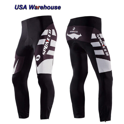 Cycling Pants Padded Men Bike Tights Stretchy Lycra Road Cycle Sports Trousesrs
