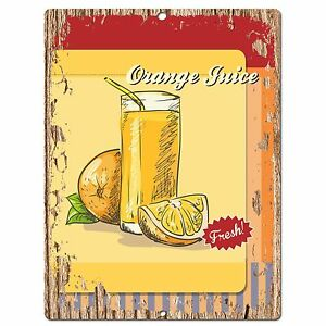 PP0541-Orange-Juice-Plate-Chic-Sign-Bar-Store-Shop-Cafe-Restaurant-Kitchen-Decor