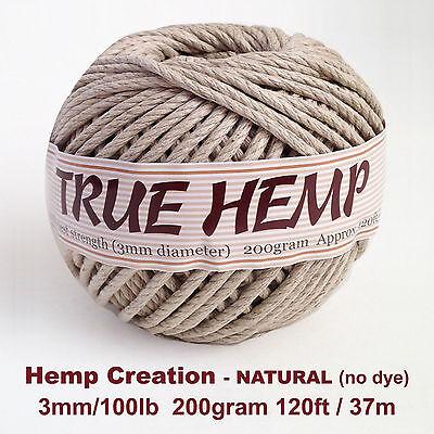 Bundle 10 TRUE HEMP big ball _ NATURAL(no dye) 3mm /100lb