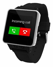 NEW - BURG 16A Smartwatch Phone w/ SIM Card for iOS and Android Black Watch