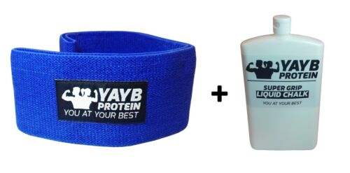 YAYB Protein Hip Glute Circle Premium material + 300ml Super Grip Liquid Chalk
