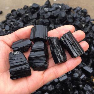 50g-pack-Stone-Pendant-Natural-Crystal-Black-Tourmaline-Rough-Rock-Gemstone